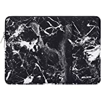 MOSISO Laptop Sleeve Compatible with 2019 2018 MacBook Air 13 inch Retina Display A1932, 13 inch MacBook Pro A2159 A1989 A1706 A1708, Notebook, Polyester Vertical Bag with Pocket, Black Marble