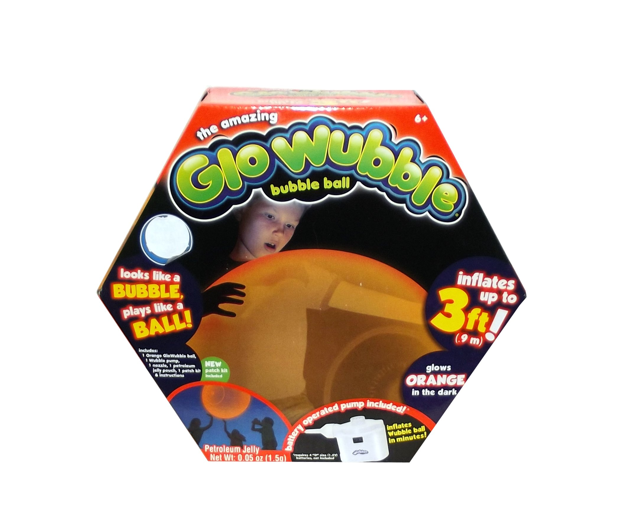 Glo Wubble Bubble Ball The Amazing, Orange by Glo Wubble Bubble Ball