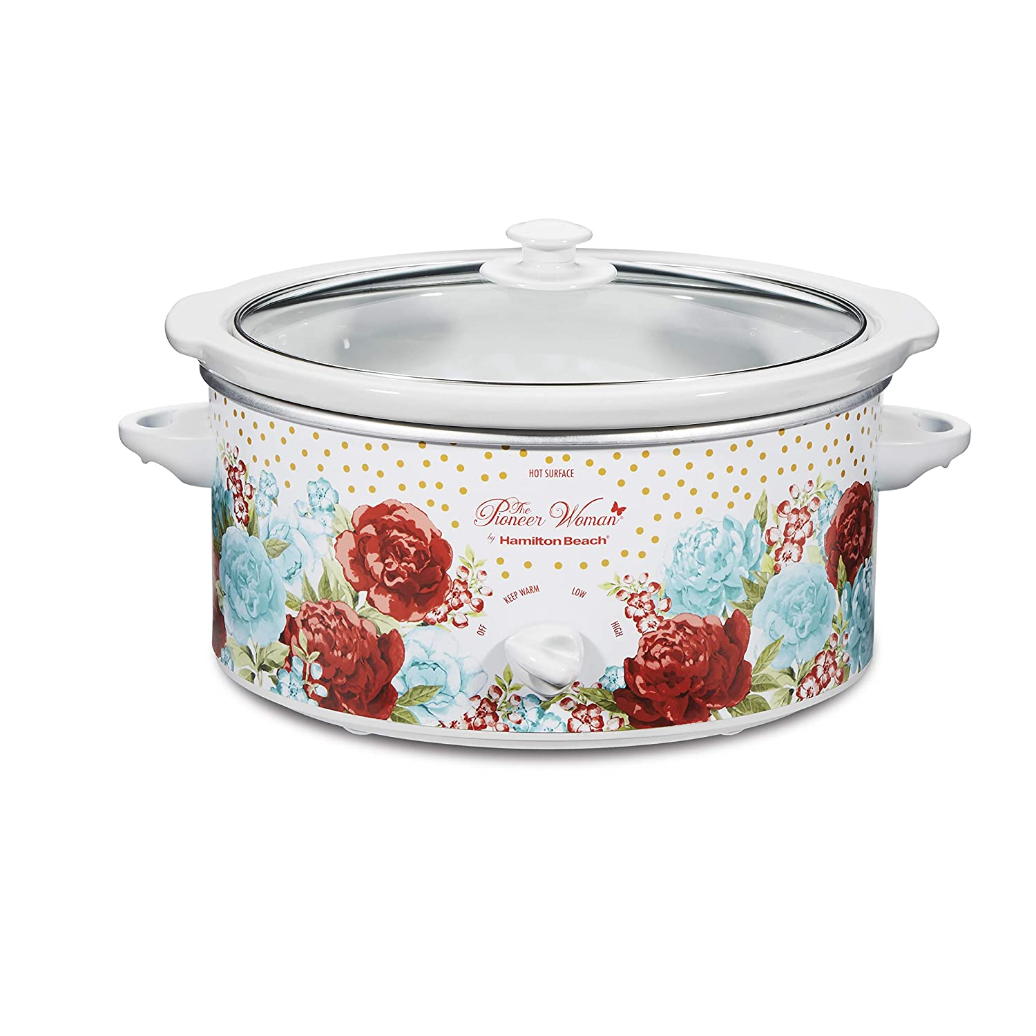 Pioneer Woman 5 Quart Slow Cooker Blossom Jubilee (L x W x H) 11.26 x 15.24 x 8.78 Inches