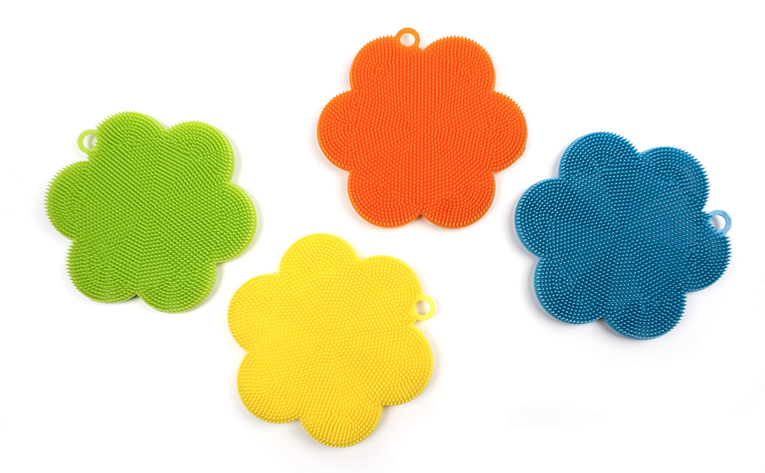 RSVP Silicone Soft Scrubbers, Set of 4