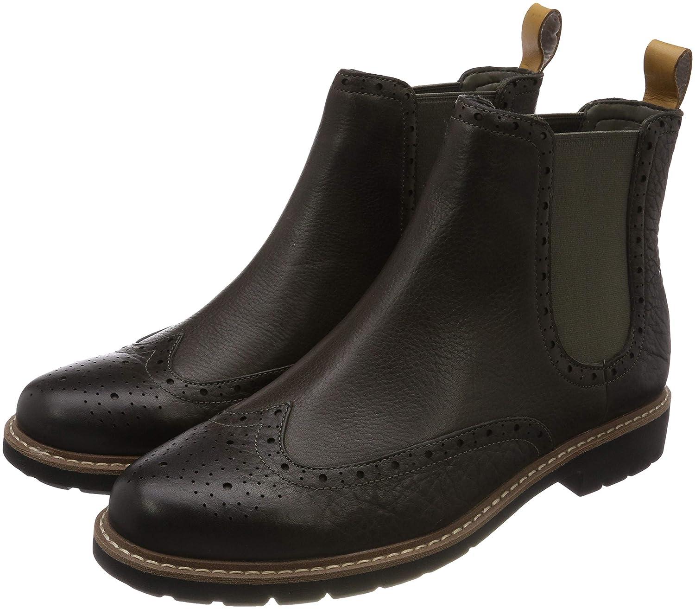 Grau (Taupe Leather) Clarks Herren Batcombe Top Chelsea Stiefel