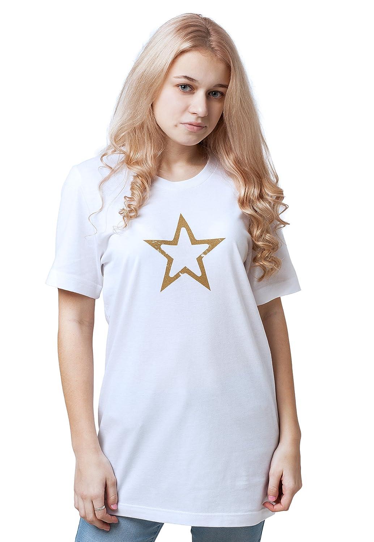 7d54bd5fc8ac Star T Shirt - Geometric Abstract Minimalist Distressed Print Womens Mens  Tee: Amazon.co.uk: Clothing