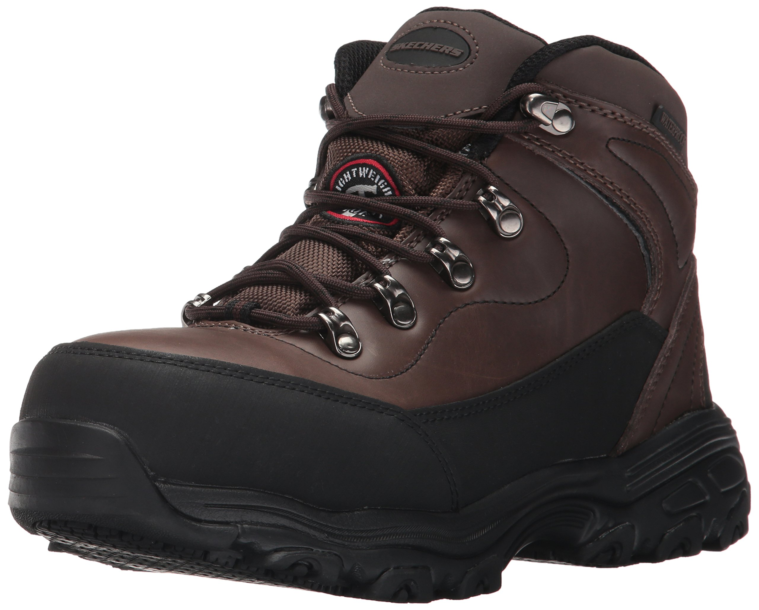 Skechers Women's D Lite Amasa Work Boot,Brown,9 M US