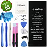 IMILITIS Battery for iPhone 6S 3.82v 1715 mAh Li-ion Polymer Mobile Phone Battery with All Repair Replacement Replacement Kit Tools Adhesive Strips and Instructions (not 6/6P/6SP)