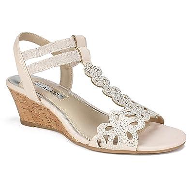 423a6c07300 Amazon.com | RIALTO Shoes CAFELL Women's Sandal | Sandals