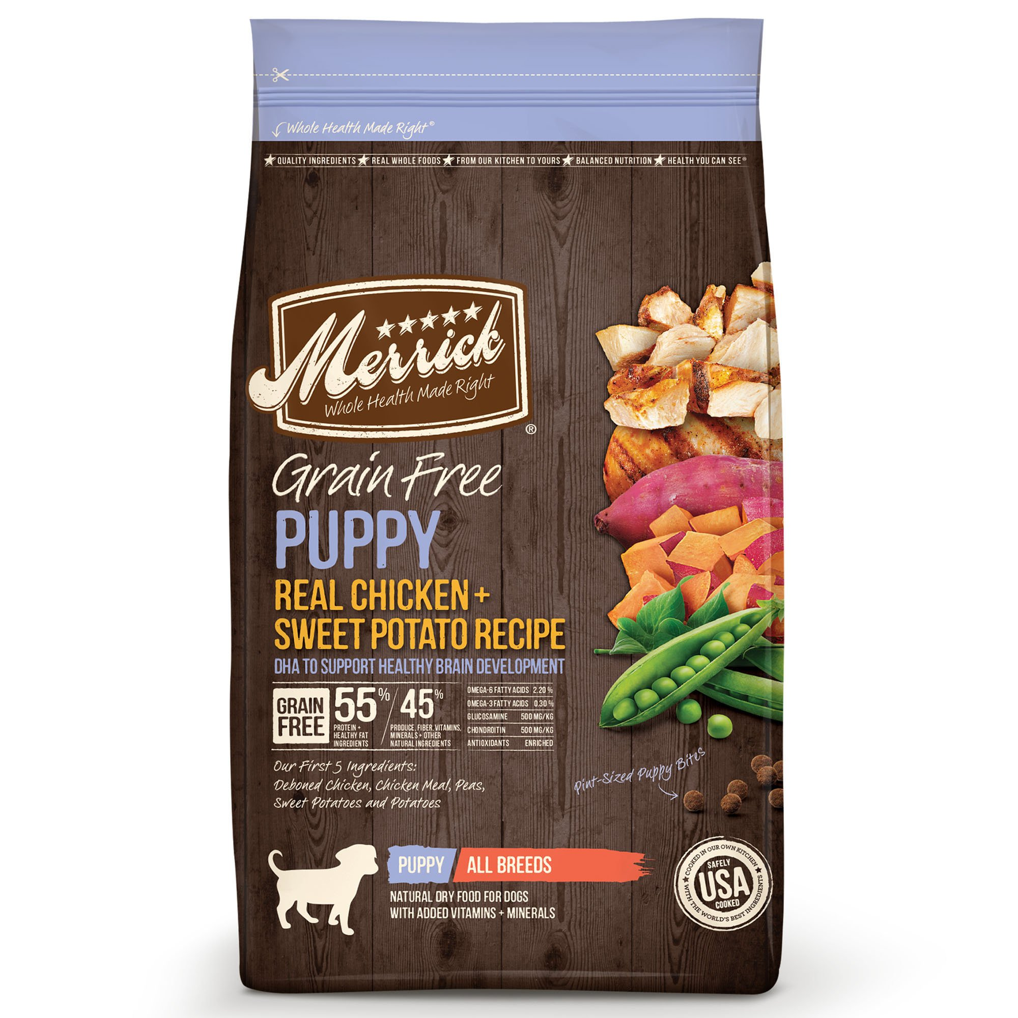 Merrick Grain Free Puppy Real Chicken & Sweet Potato Dry Dog Food, 25 lbs.