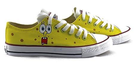 SpongeBoba - Zapatillas de skate para hombre y mujer, diseño de Chuck Taylor, pintadas