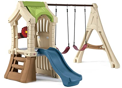 Amazon Com Step2 Play Up Jungle Gym And Kids Swing Set Toys Games