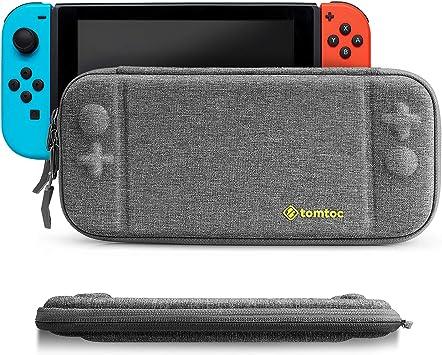 Funda delgada para Nintendo Switch, tomtoc Concha dura portátil estuche duradera para viaje con 8 cartuchos de juego y una bolsa de accesorios para la consola de Nintendo Switch: Amazon.es: Electrónica