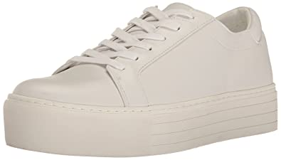 c9c57f021609 Kenneth Cole New York Abbey Leather Platform Sneaker White