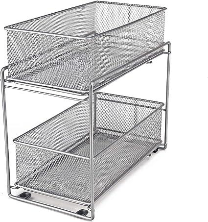 lacyan panier coulissant paniers pour etageres avec 2 tiroirs a panier coulissant pour cuisine et salle de bains