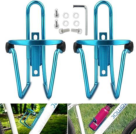 Jaula para bicicleta botella de agua, WisFox 2 Pack Aleación ...