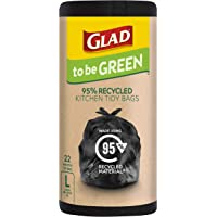 Glad to be Green 95% Recycled Wavetop Bin Liners, Large, Pack of 22
