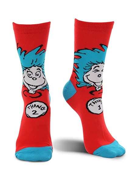 Amazon.com: Thing 1 & Thing 2 Crew - Calcetines, talla única ...