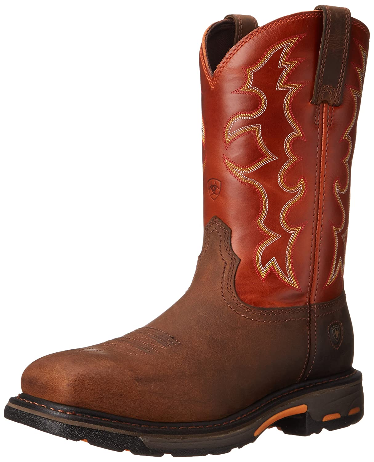 Earth Brick ARIAT Men's Workhog Steel Toe Work Boot