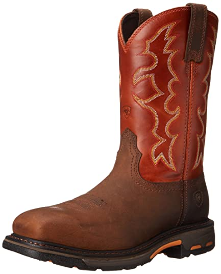 25e1faeeb43 Ariat Men's Workhog Steel Toe Work Boot: Amazon.co.uk: Shoes & Bags