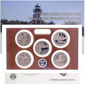 COA 2016-S Proof Clad Quarters America Beautiful Park ATB 5 Coins 25¢ No BOX