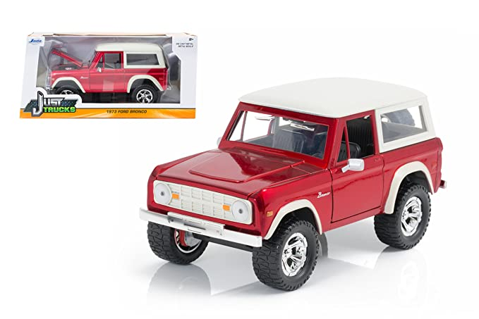 JADA 1:24 W//B JUST TRUCKS 1973 FORD BRONCO DIE-CAST CAR MJ EXCLUSIVE 98279 GREY