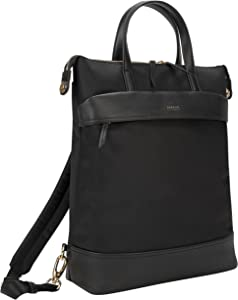 Targus Newport Travel and Commuter Trendy and Modern Design fit 15-Inch Laptop Convertible Tote Backpack, Black (TSB948GL)