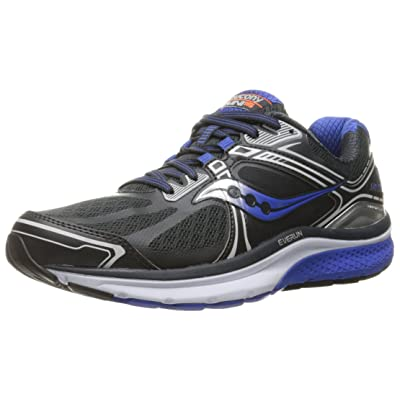 Saucony Men\'s Omni 15 Running Shoe, Grey/Blue/Silver, 8 M US | Road Running