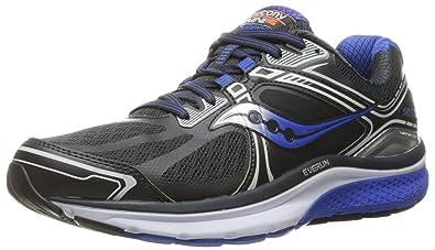 Saucony Men's Omni 15 Running Shoe, Grey/Blue/Silver, ...