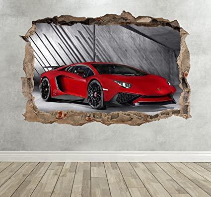 Binnenhuisinrichting Lambo Aventador Super Car Childrens Wall Stickers Bedroom Decal Wall Art 4 Sizes Svconveyancing Com Au