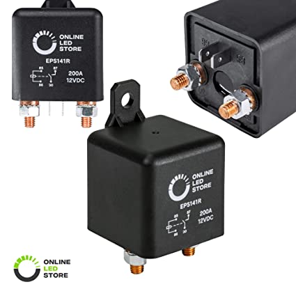 amazon com online led store 12v dc 200 amp split charge relayamazon com online led store 12v dc 200 amp split charge relay switch 4 terminal relays for truck boat marine automotive