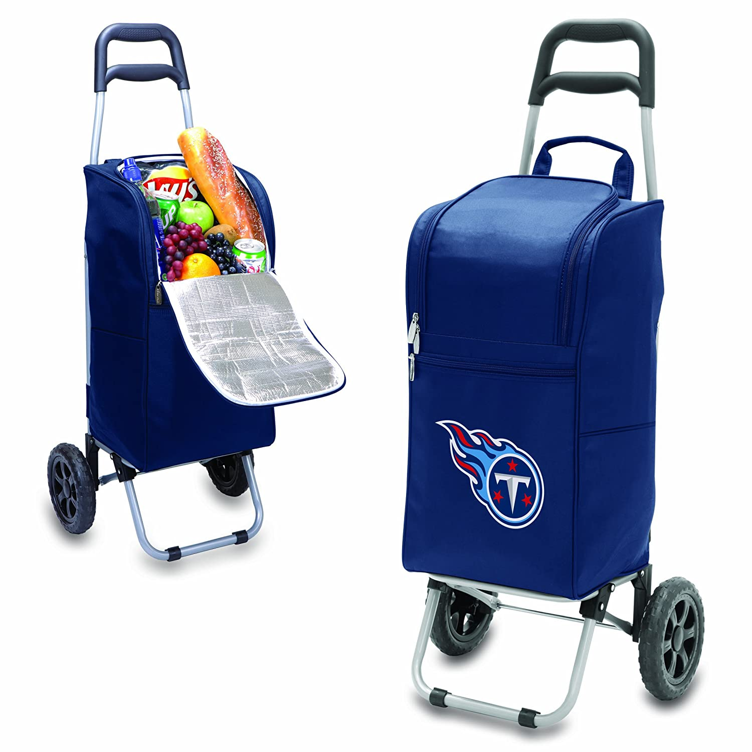 Navy NFL Tennessee Titans Insulated Cart Cooler with Wheeled Trolley