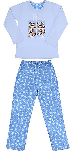 Cornette Niña Pijamas Conjunto Pijamas Niña Invierno Verano CR-811-Dogs2: Amazon.es: Ropa y accesorios