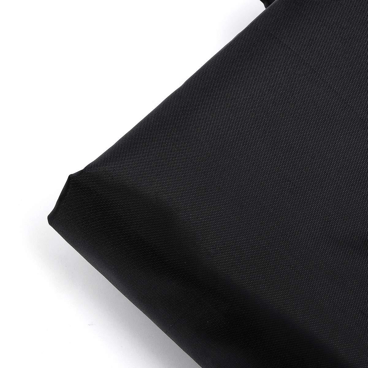 dDanke Black Left Hand L-Shaped Sofa Cover & Rectangular Table Cover Set for Outdoor Patio Waterproof & Dustproof Furniture Protection (2 Sizes Together) by dDanke