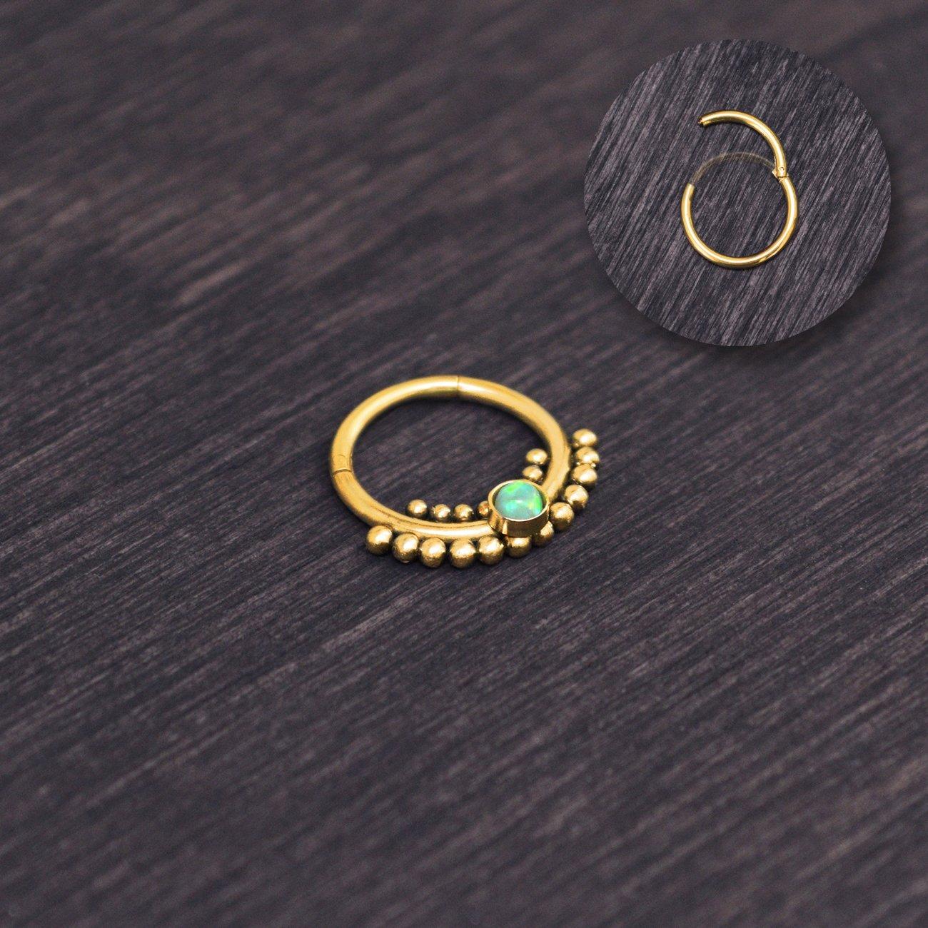 Daith Ring NellySteelPiercing Septum Nose Ring Surgical Steel Septum Hoop