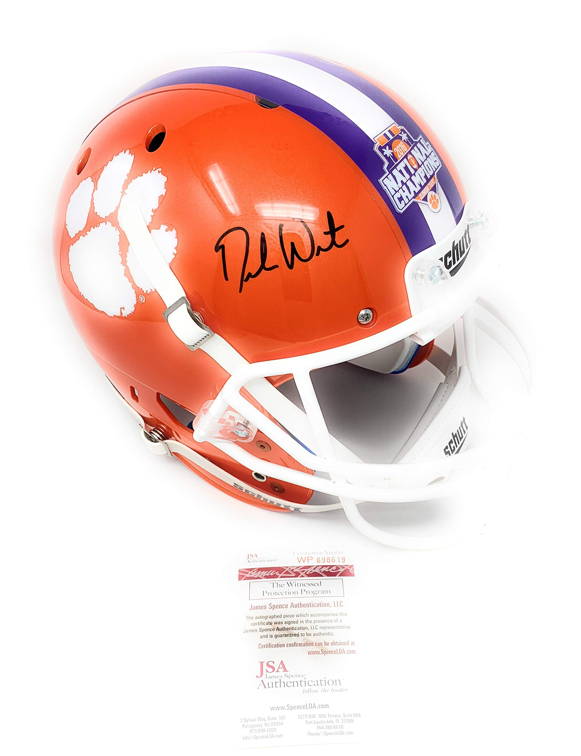 Deshaun Watson Clemson Tigers Signed Autograph Full Size Helmet BCS Champs Edition Watson GTSM Holo JSA Certified