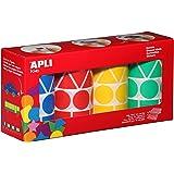 Apli 946022 - Pack de 4 rollos de pegatinas geométricas, multicolor