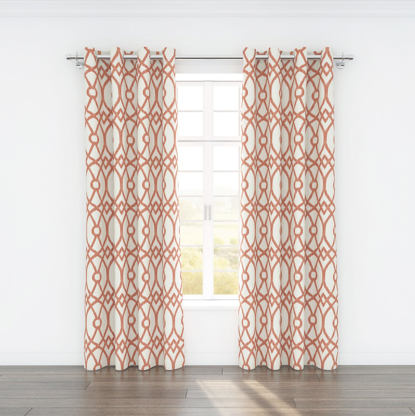 Stylemaster Home Products Colorfly Piper Grommet Panel Pair Coral 2 by 54 by 84-Inch
