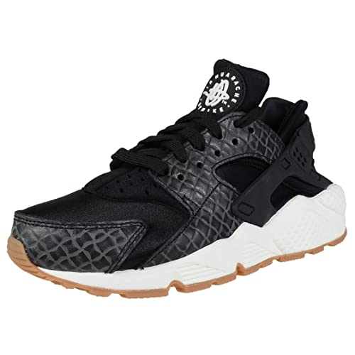 best sneakers a18cb 10b14 Nike 683818-011 Women WMNS AIR Huarache Run PRM Black SAIL Gum MED Brown   Amazon.in  Shoes   Handbags