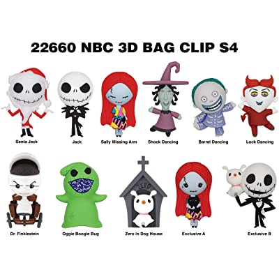 Nightmare Before Christmas Series 4 - 3D Foam Bag Clip in a Blind Bag: Toys & Games