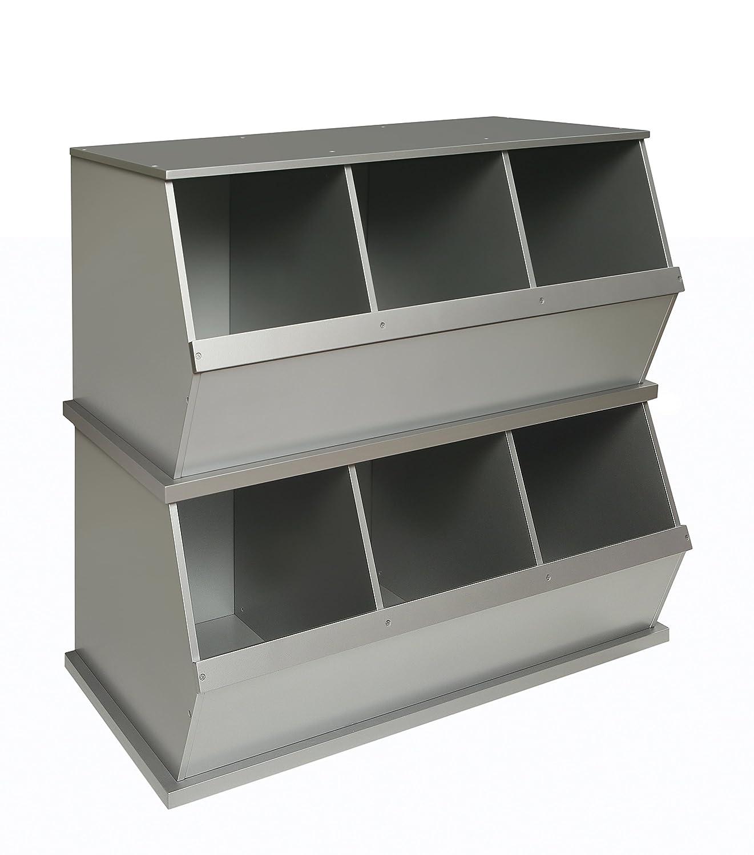 amazon com badger basket three bin storage cubby silver baby