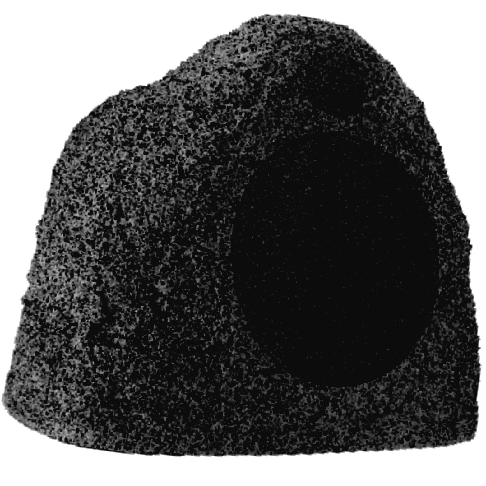 Stereostone Cinema Rock Outdoor Speaker 8 Inch Davinci Rock Speaker (Black Lava) by Stereostone