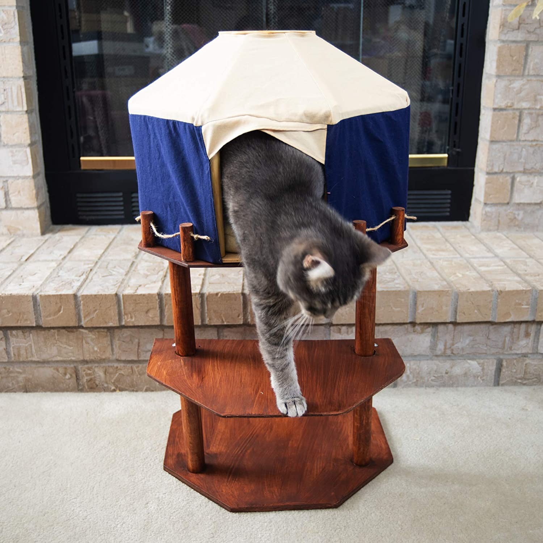 Amazon Com Handmade Elevated Cat Yurt Cat Tent Condo Handmade Süper fiyatlarla yurt dışından ürünler. amazon com handmade elevated cat yurt