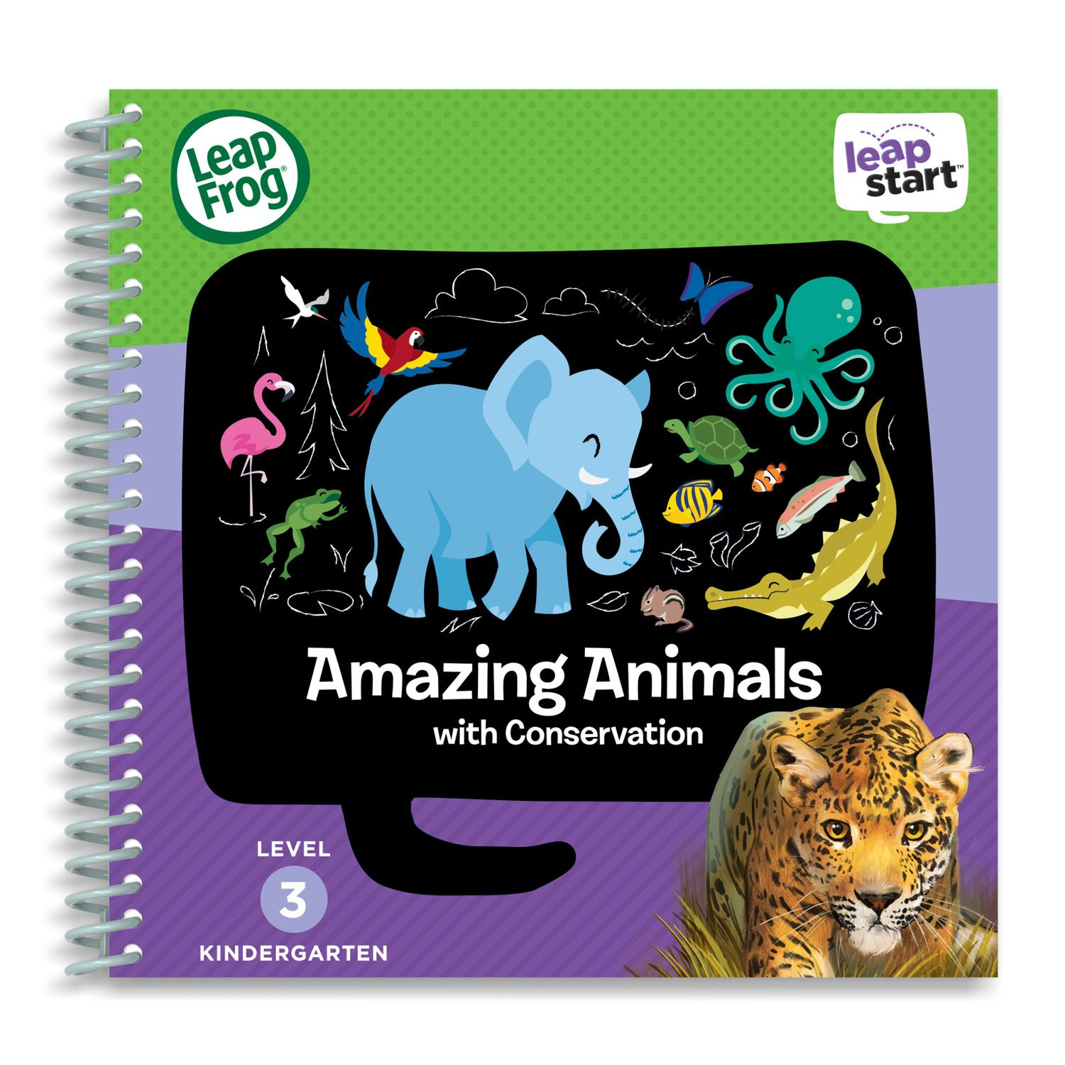 LeapFrog LeapStart Level 3 Kindergarten Activity Book Bundle with Kids' World Atlas, Amazing Animals by LeapFrog (Image #3)