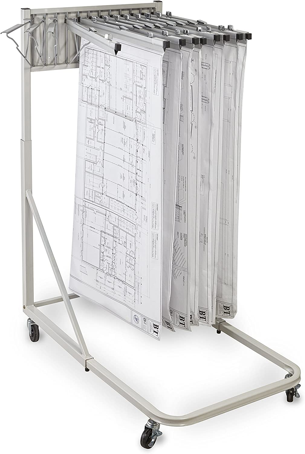 Adir Corp. 613 Vertical File Rolling Stand for Blueprints - Sand Beige