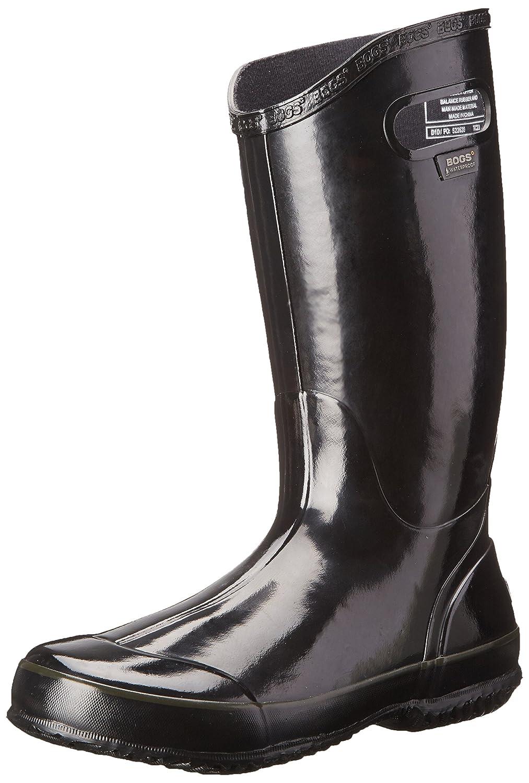 Bogs Women's Solid Rain Boot B00GUJYSXK 8 B(M) US|Black