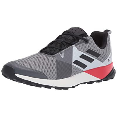 adidas outdoor Terrex Two Grey Three/Black/Active Red 10.5 D (M): Clothing