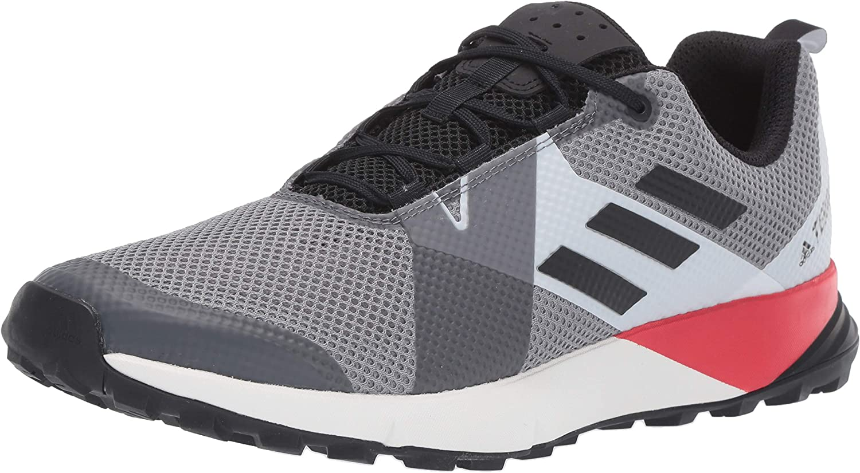 adidas outdoor Terrex Two Grey Three/Black/Active Red 8.5 D (M)