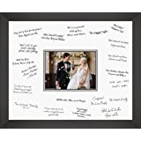 Large Wedding Photo Frame 18x24 Inch With Guest Signature Board