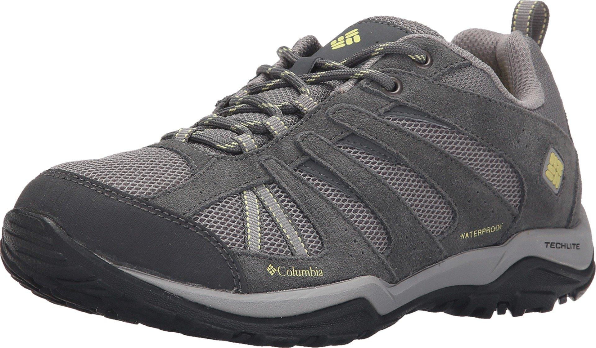 Columbia Women's Dakota Drifter Waterproof Hiking Shoe, Light Grey, Sunnyside, 7.5 B US