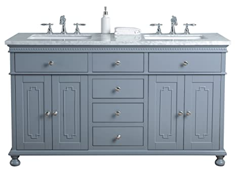 Stufurhome Hd 1013g 60 Cr 60 Inch Grey Abigail Embellished