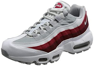 2798cbac748142 Nike Air Max 95 Essential Men s Shoes White Wolf Grey Pure Platinum 749766-
