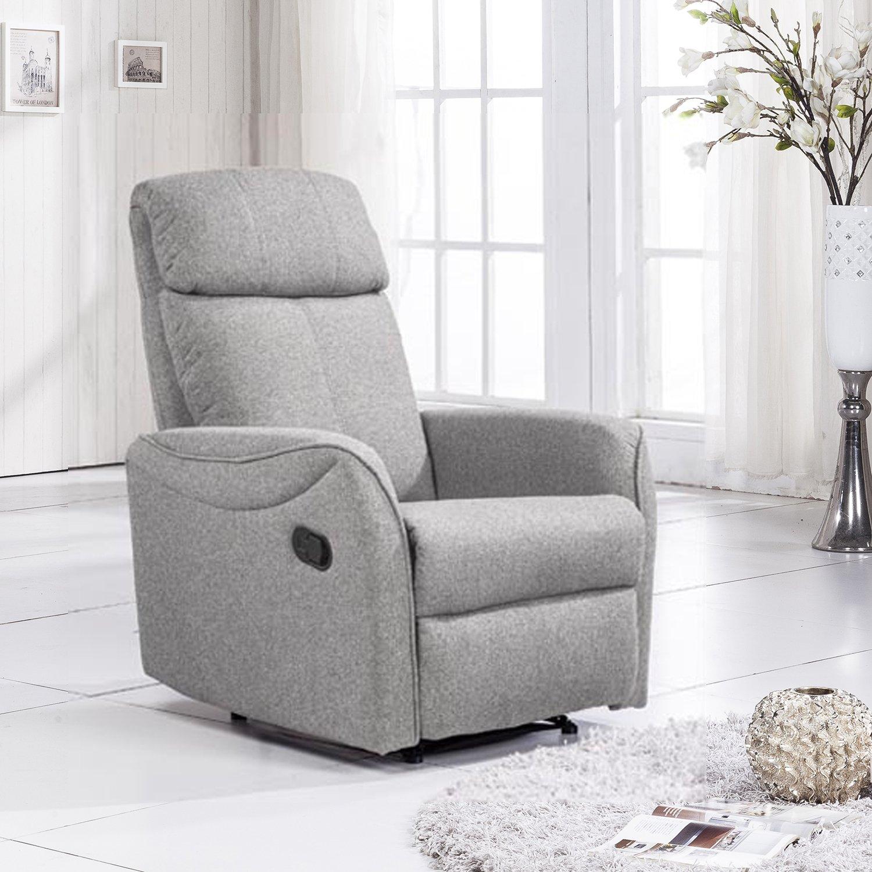 Sillon relax manual slim, tapizado tela Elegance medidas 74 ...