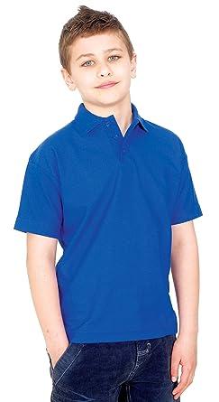 ea9ef5171768a Enfants Uni Chemise Polo Manche Courte Porte-nom Ecole Sport Décontracté  Loisir - Blanc